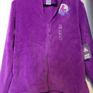 Disney Ariel Fleece Jacket pink purple new